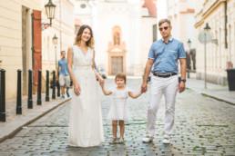 Фотосессия в Праге для семьи из трех человек