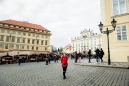 Градчанская площадь в Праге.