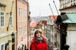 Замковая лестница (новая). Вид вниз. Пражский Град. Фотосессия.