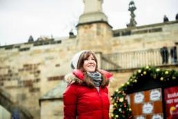 Индивидуальная фотосессия около Карлова моста. Рождество в Чехии: картинки Прага зимой.