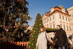 Главная елка на Староместской площади. Фотосессия в Праге на Рождество и Новый год