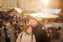 Ярмарка на Староместской площади. Фотосессия в Праге на Рождество и Новый год