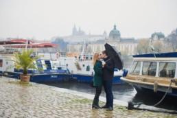 Фотосессия в Праге когда дождь