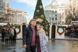 Рождественская елка на Вацлавской площади в 2017/18 году. Вот так наряжают Прагу к Рождеству. Ярмарка. Фото.