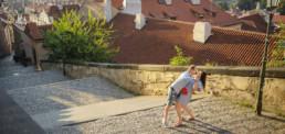 Фотограф в Праге Пражский Град, красные крыши, фотосессия