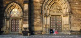 Фотограф в Праге Вышеград, семейная фотосессия