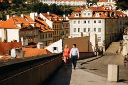 Фотопрогулка по Праге № 1. Лавстори у Пражскогом Града, вид на красные крыши, Маластрана