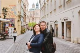 Портрет родителей в Праге во время путешествия.