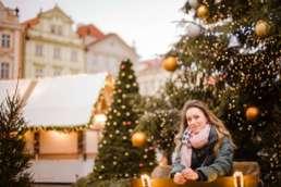 Рождественская ярмарка на Староместской площади. Фотосессия в Праге на Рождество и Новый год